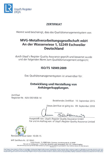 Qualitätsmanagement IATF 16949